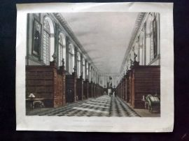 Ackermann & Pugin History of Cambrdige 1815 HC Print. Library of Trinity College